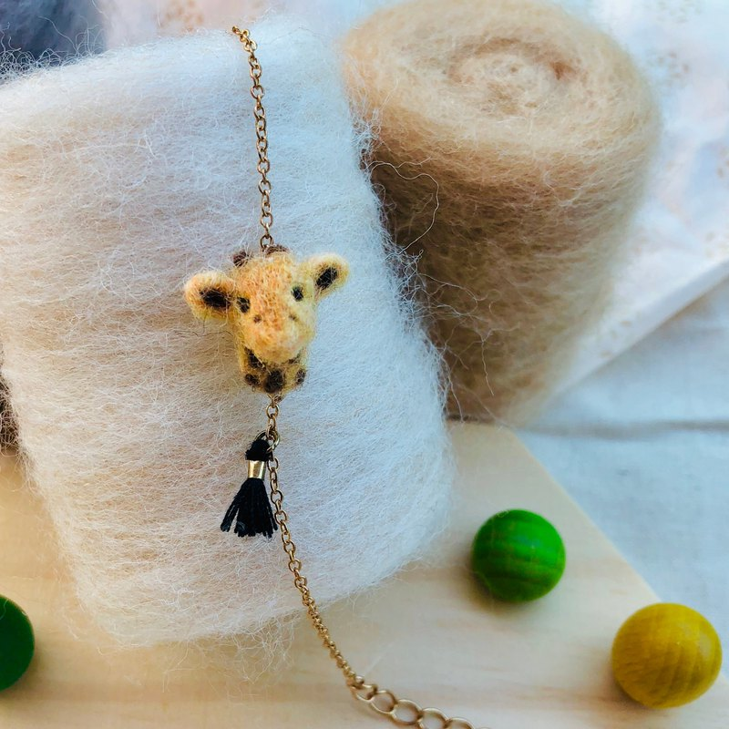 wool felt mr. giraffe bracelet
