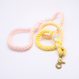 COTTON DOG LEASHES - PEACH ROSE  (100cm)