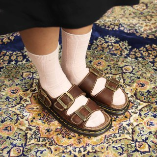 Tsubasa.Y Antique House A01 Dark Brown Martin Sandals, Dr.Martens England