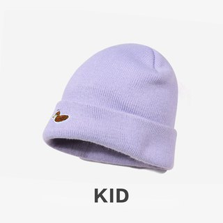 KIDS Duck Embroidered Cap Warming Cap::Light Purple::