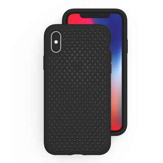 AndMesh iPhone X Japan QQ Network Soft Collision Protection Cover - Black