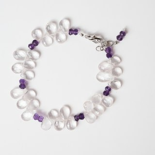 [Love] Purple Handmade natural stone bracelet X