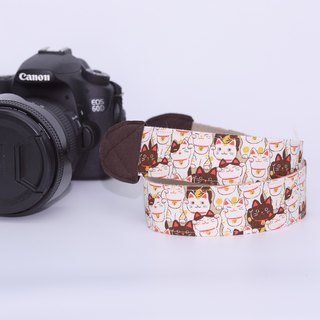Pu.sozo cloth hand made great luck! 喵 camera strap / camera rope / single eye / class