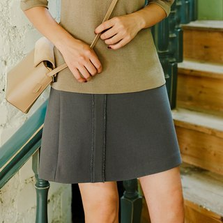 2018 autumn women's new front piece ribbon decoration A short skirt dress
