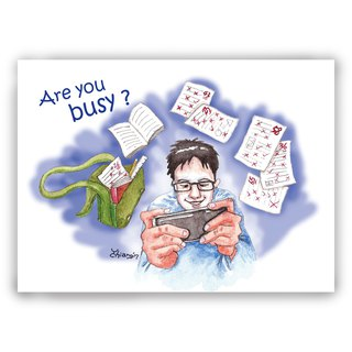 Hand-painted illustration Universal / postcards / cards / illustration card - you busy hand control