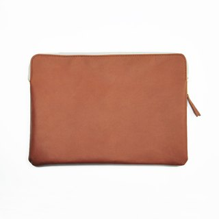 "Bellagenda 10.5"" Tablet Bag Customized Branded Pouch Bag Saddle Brown"
