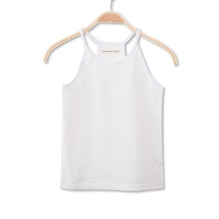 Thin shoulder strap soft white vest