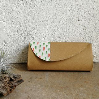 [With the coating series] red fish green pool organ wallet