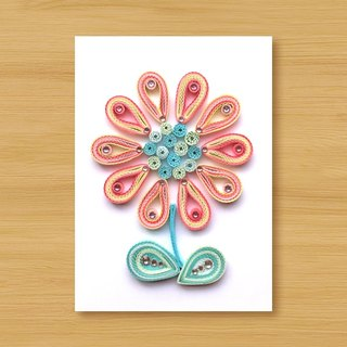 Handmade Roll Paper Card_ Flower_B2 ... Mother Card, Thank You Card, Valentine Card
