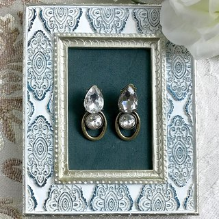 (Clip type) bronze side shiny antique earrings BKA019