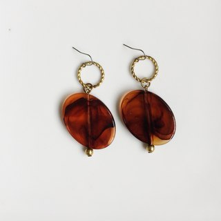 Only one pair of antique resin bead earrings