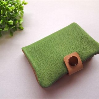 [Classic Green] pig leather soft card case [MTO]