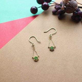 Little star-Brass handmade earrings