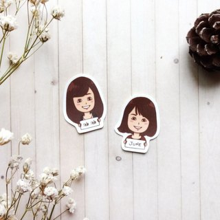 Custom Q version portrait name stickers | completely waterproof