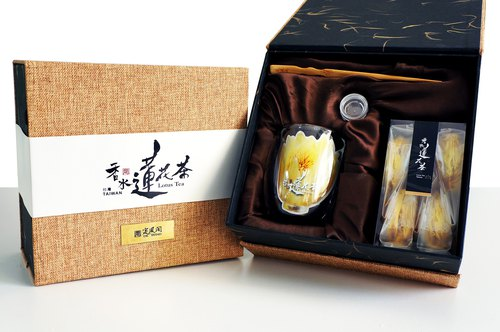 Ding Feng Club perfume lotus tea gift box - hardcover silver