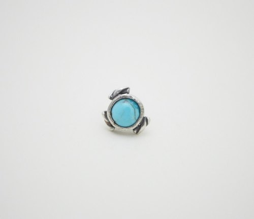Section‧Turquoise‧Single Silver Earring