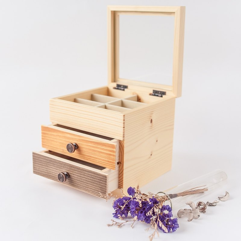 【Double Lucky Box II】 handmade wooden box jewelry box birthday gift storage