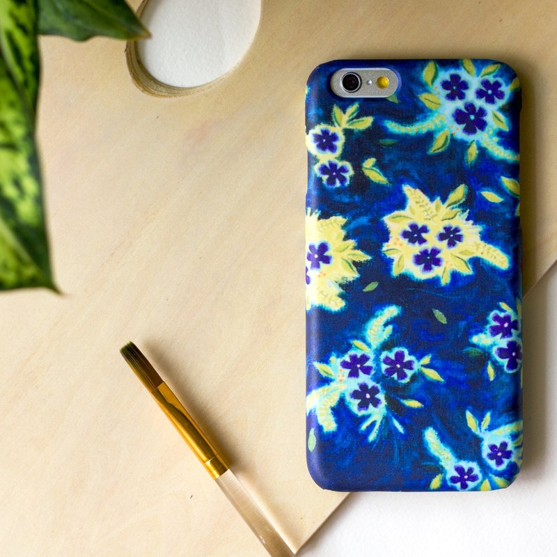 Purple and Yellow flowers inside the blue world Painted with oil paints.   Matte Case (iPhone, HTC, Samsung, Sony)
