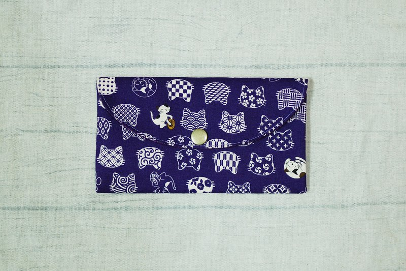 Play cloth hand made. Circle cat (purple) red envelopes bankbook storage bag
