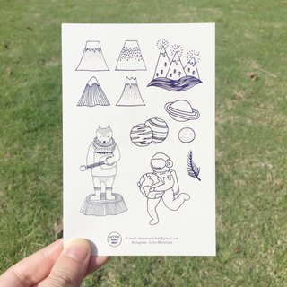 Adventure Tattoo Sticker / Buy 3 get 1 free