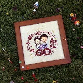 Customized  Embroidery Photo frame