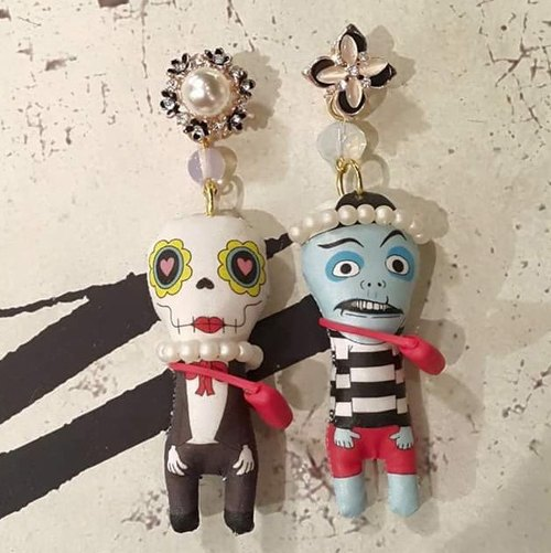 TIMBEE LO handmade doll earrings each have only one single sale