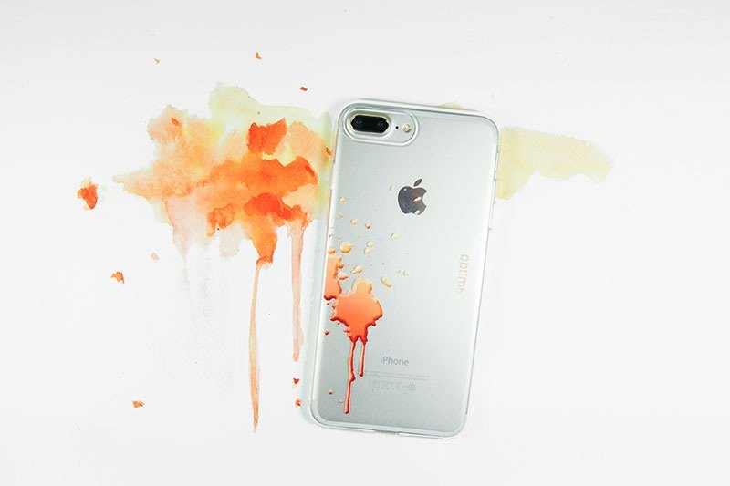 Optima iPhone 8/7 Plus TPU thin protective case splashing orange