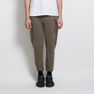 City spy bent legs casual pants - dark green