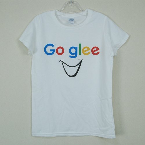 "New Designer-T-shirt: 【Go glee】 Short Sleeve T-shirt ""Neutral / Slim"" (White) -850 Collections"