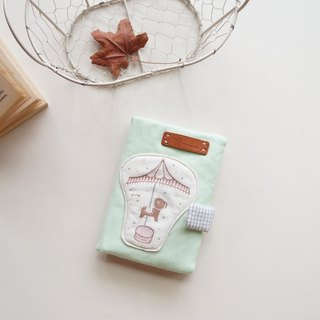 Hand-painted carousel passport holder