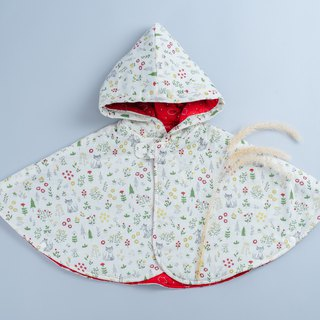 Cotton double-sided cloak - fox red pig hand made non-toxic jacket baby children's clothing