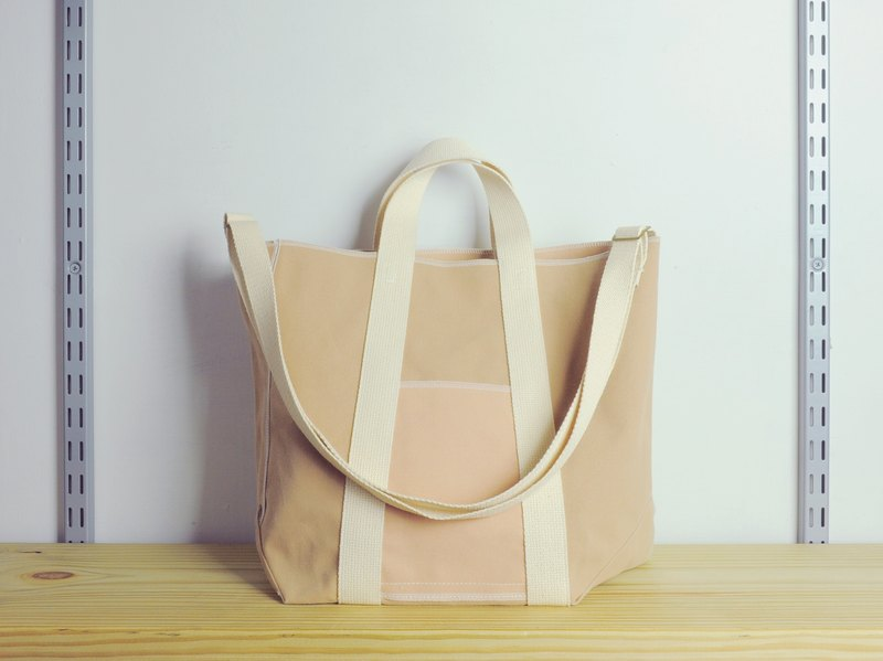 jainjain-no chapter 01 khaki asymmetric version of the tote bag / portable / shoulder Tote