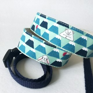 Bear Fuji Mountain Camera Strap - Sky Blue