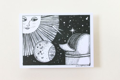 Astronomy Series postcards. Star Seeker {}