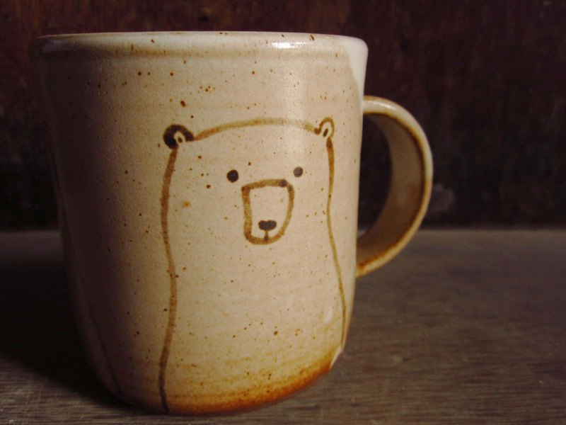 Hand-painted polar bear mug