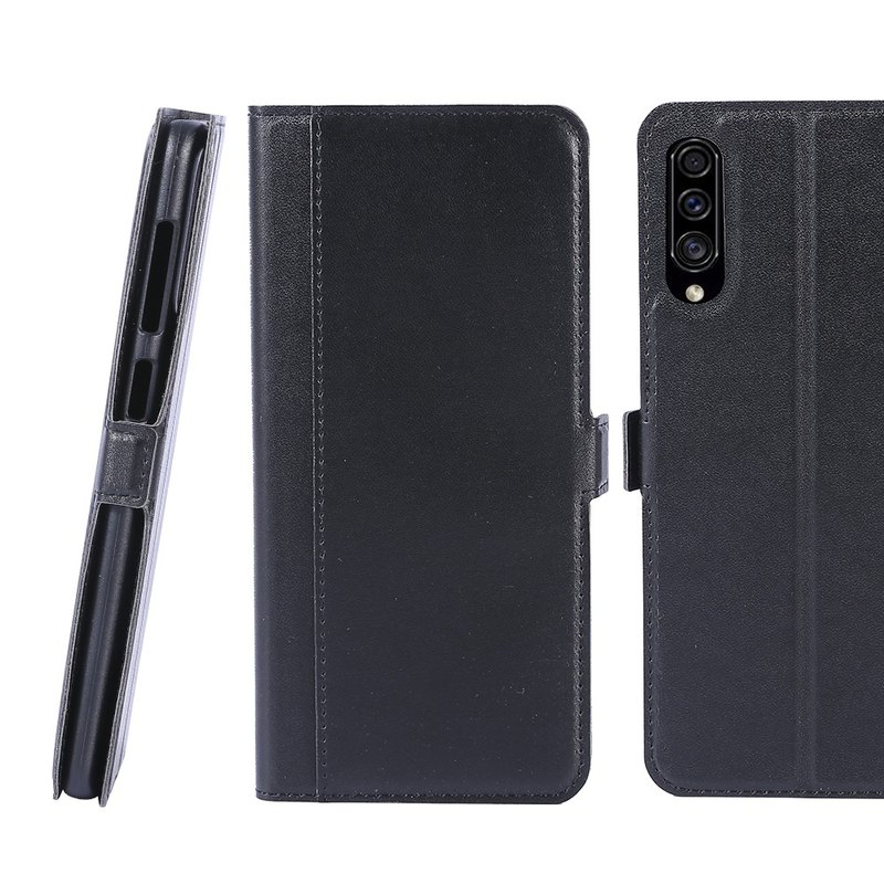 CASE SHOP Samsung Galaxy A30s/A50 Front Storage Leather Case - Black 47167696618385