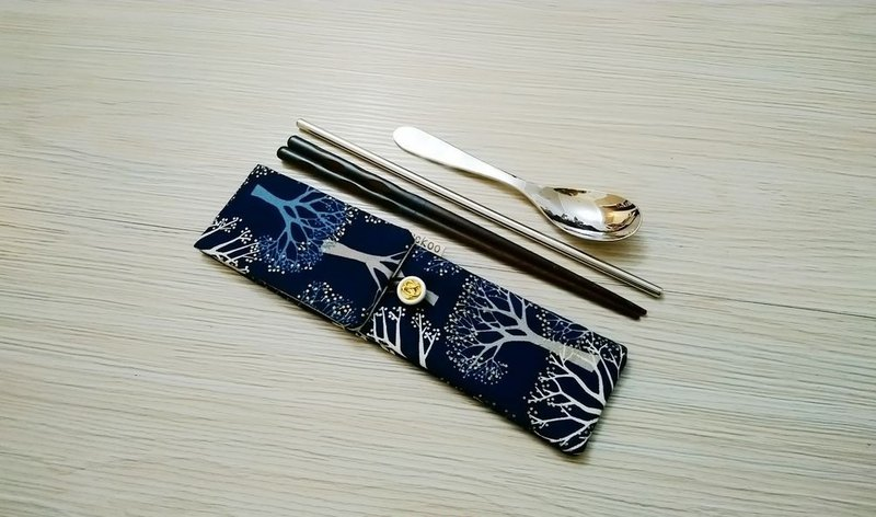 Environmental protection tableware storage bag chopsticks bag combination chopsticks special double-layer chopsticks bag cherry tree