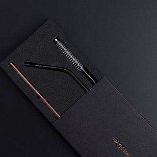 NTU Stainless Steel Straw Gift Box - Copper Gold