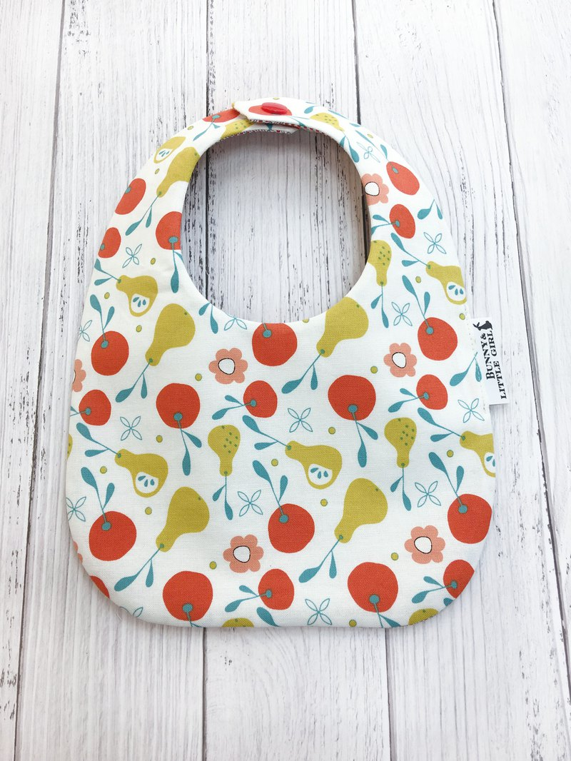 Double-sided bib-apple and pear