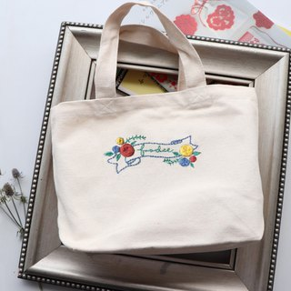 FOODIE eat private illustrations embroidery canvas bags material group