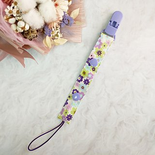 Colorful flowers - 2 colors are available. 2-stage length manual pacifier chain (for vanilla nipples)