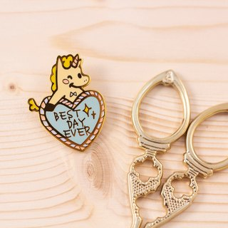 The best day - metal pin / brooch / 襟 pin