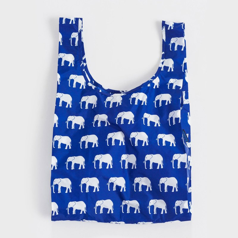 [Hot Replenishment] BAGGU Eco Storage Shopping Bag - Blue Elephant