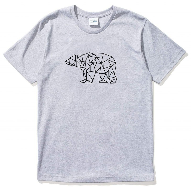 Bear Geometric gray t shirt