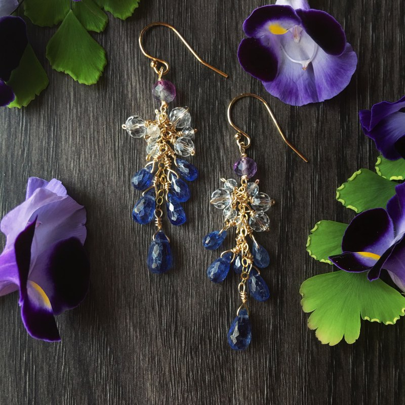 Handmade Earrings Sefar's Secret / Kyanite