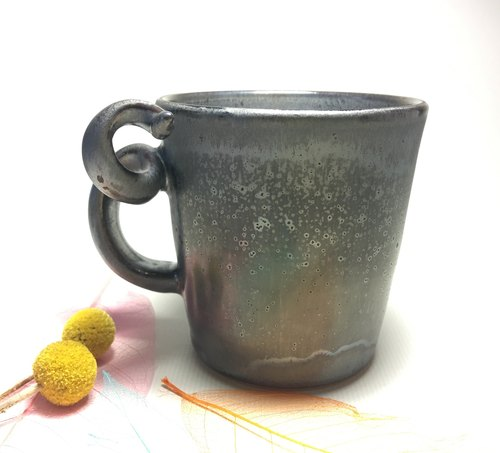Hand pull bad - ink color coffee cup (right hand dedicated)