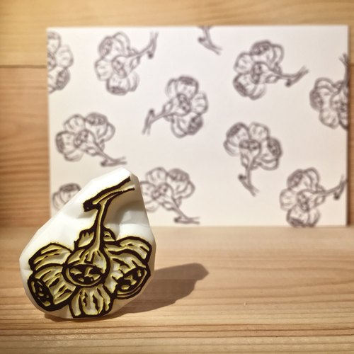 Handmade stamp with postcard(dried flower B)