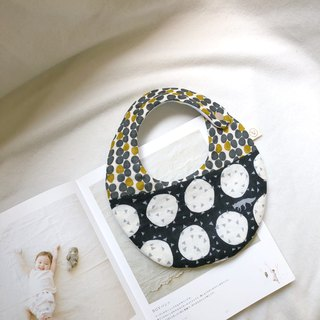 Dot geometry Japanese textile brand echino eight-layer yarn handmade bibs saliva towel