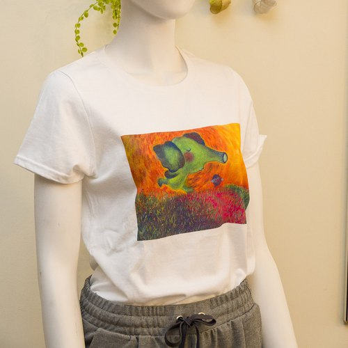 Hand-painted T-ShIRT/T-shirt