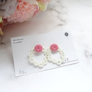 Handmade Tatting Earrings, Lace Earrings, Cotton, Crochet